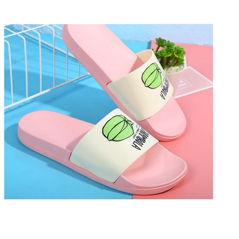 New Men Slippers Fashion Summer Lovely Ladies Casual Slip On Fruit Jelly Beach Flip Flops Slides Woman Skid Indoor Shoes Men's Shoes Shoes