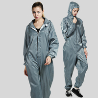 GM Protective Clothing Coveralls For Workmen Breathable Protective Clothing Dustproof Anti Static Isolation Sets S XXXL