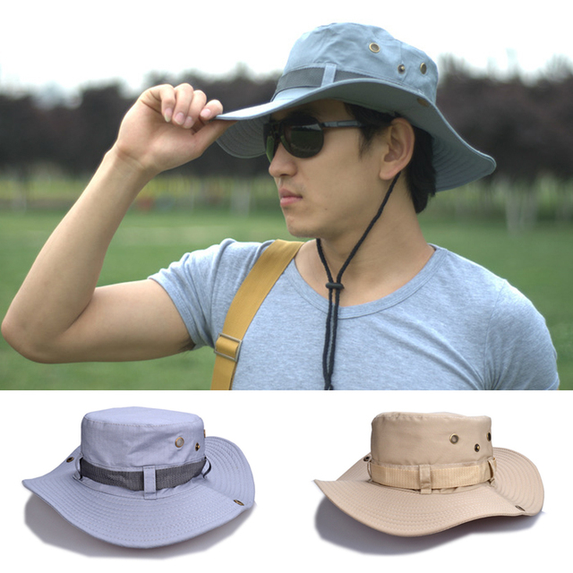 2e6590f24d207 Sun Hat Hiking 1 X Outdoor hat Men s Fishing Cap Beach Cap Outdoor Foldable