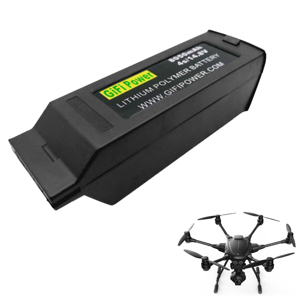 Rc Lipo Battery 14.8V 8050mAh 4S Upgraded Replacement Lipo Battery For Yuneec Typhoon H H480 yuneec typhoon h480 transmitter signal antenna extended omni directional signal range for rc typhoon h480 quadcopter