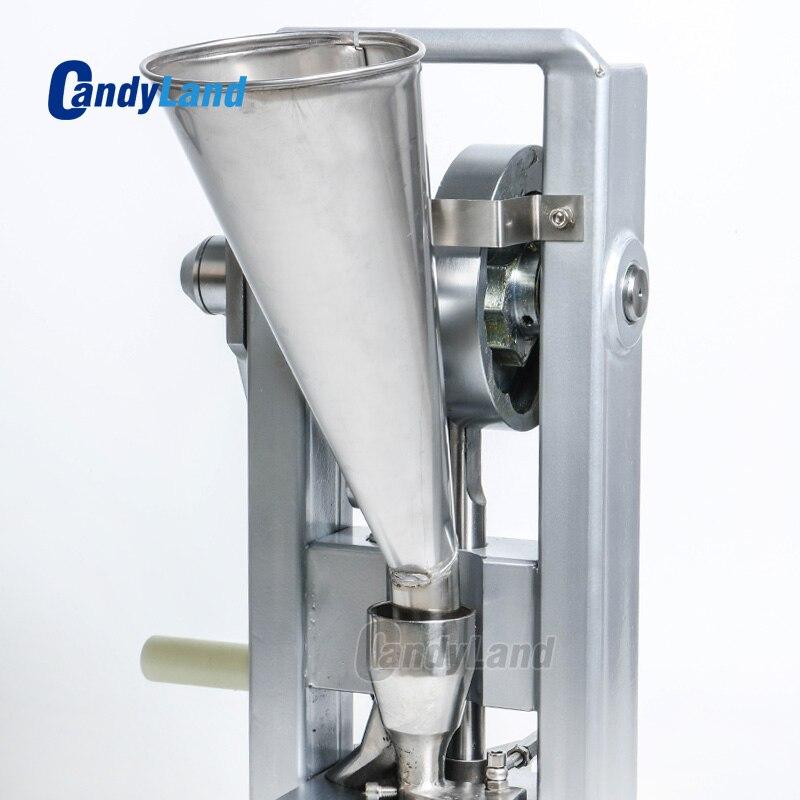 CandyLand TDP0 Tablet Presse Maschine Für Einzel Stanzen Milch Scheibe Calcium Tablette, Der Hand-Betrieben Pille Presse Maker