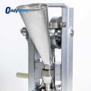 Image 3 - Machine de presse de pilule de CandyLand TDP0 pour le comprimé de Calcium de tranche de lait de poinçon simple faisant le simulateur de presse actionné à la main