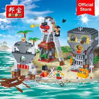 BanBao Karibik Piraten Insel Boot Steine Pädagogisches Bausteine Modell Spielzeug 8708 Kinder Kinder Freund Kompatibel Mit Marke