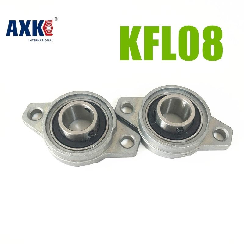 AXK 2pcs 8mm Bore Diameter KFL08 Pillow Block Bearing Flange Rhombic Bearings 1pcs kfl006 12mm pillow block bearing flange block bearing cnc parts bearings for machinery equipment