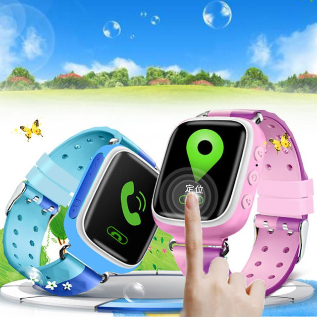 2018New Anti-lost Children Smart Watch GPS Positioning BT Wrist Screen 0.66 LCD