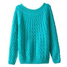 Осень Зима О образным вырезом тонкий свитеры для женщин топы с длинными рукавами для джемпер