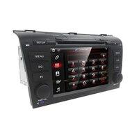 יחידת ראש DVD לרכב מסך מגע נגן Mazda3 מאזדה 3 2004-2009 מערכת ניווט GPS רדיו RDS USB 3 גרם CD רדיו מפות GPS SWC