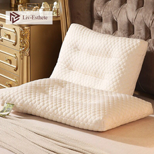 Liv-Esthete Wholesale Hot Sale 100% Natural Latex Health Pillow Neck Protect Vertebrae Sleep Soft Pillow For Side Sleeper 1PCS hot selling dunlop ventilated 100% natural latex pillow core standard
