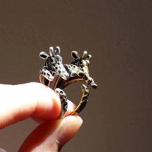 Мин 1 шт кольцо с жирафом регулируемое кольцо животное повседневное античное Винтажное кольцо идея подарок для мужчин