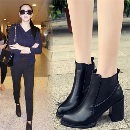 Popular Chunky Heel Ankle Boots-Buy Cheap Chunky Heel Ankle Boots ...