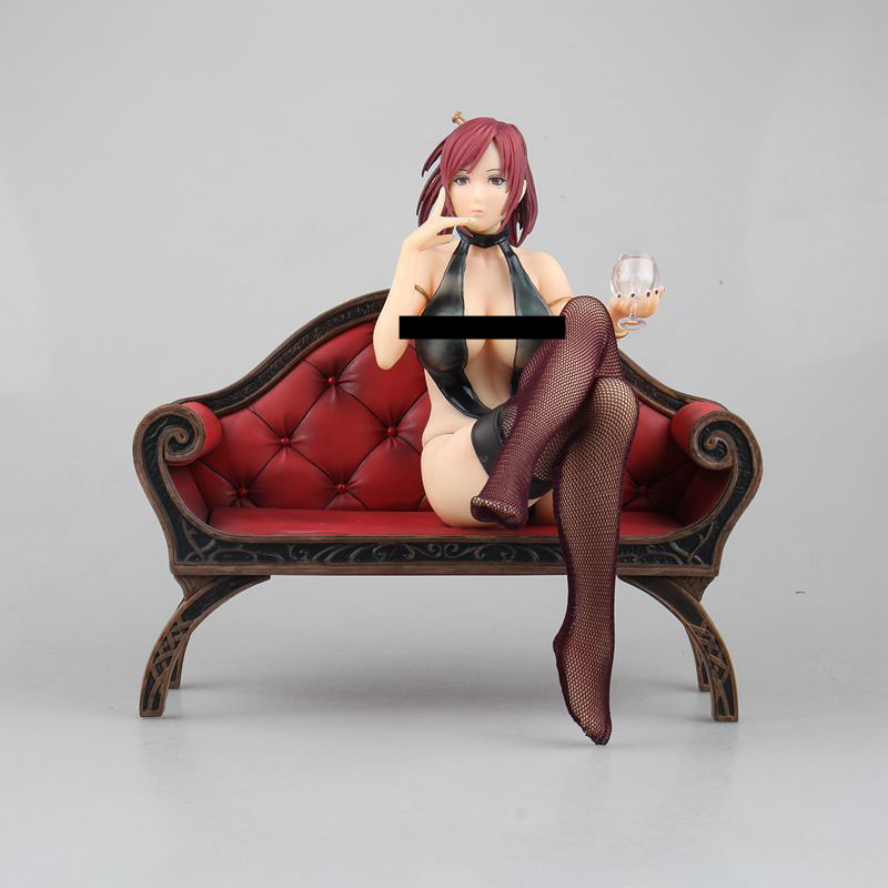 Free Shipping Sexy 8 Anime Decadence Beauty Marie Mamiya Sit Ver. Boxed 19cm PVC Action Figure Collection Model Doll Toy Gift free shipping 6 comics dc superhero shfiguarts batman injustice ver boxed 16cm pvc action figure collection model doll toy
