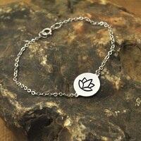Lotus Bracelet Yoga Bracelet Lotus Charm Yoga Jewelry Gift Idea House Of Metalworks Alloy Jewelry