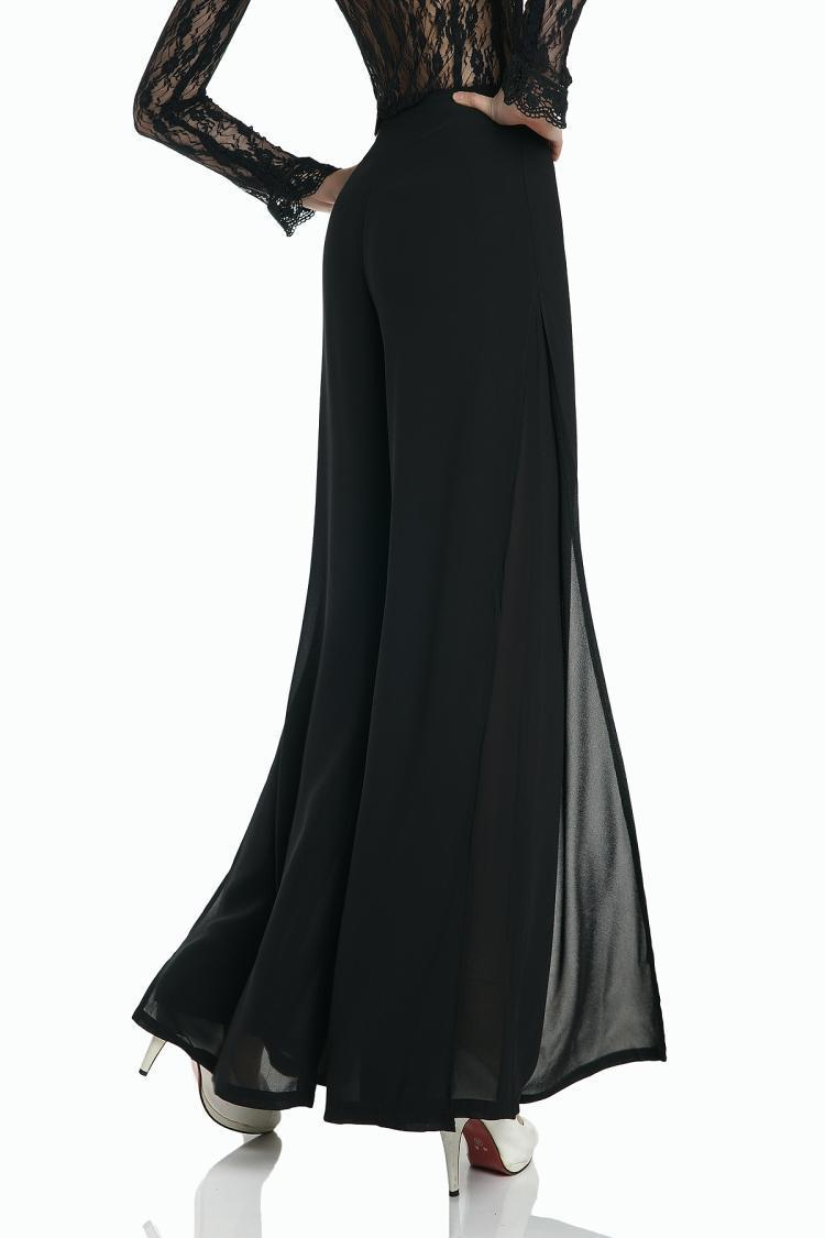buy pantalon femme 2015 summer casual capris super drape chiffon pants wide leg. Black Bedroom Furniture Sets. Home Design Ideas