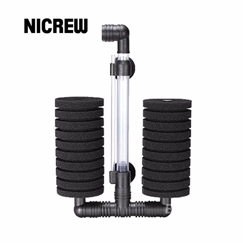 Aquarium fish tank air pump biochemical sponge filter - Nicrew Fish Tank Air Pump Skimmer Aquarium Fish Filter Accessories Practical Aquarium Biochemical Sponge Filter Pet