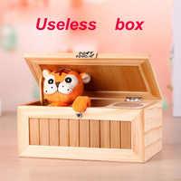 Houten Elektronische Nutteloos Doos Leuke Tiger Grappig Speelgoed Geschenk Voor Jongen En Kinder Interactieve Speelgoed Stress-Reducti