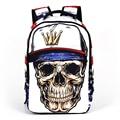 3D Punk Череп скрещенные кости Школьные Сумки Мужчины Дизайнер Подросток страшно опрятный старшей школе рюкзак Для Мальчиков/Девушки Женщины прохладный Backbpack