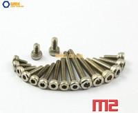 M2 Vernickelt Innensechskantschraube Innensechskant Schraube 12,9 Grad Legierter Stahl