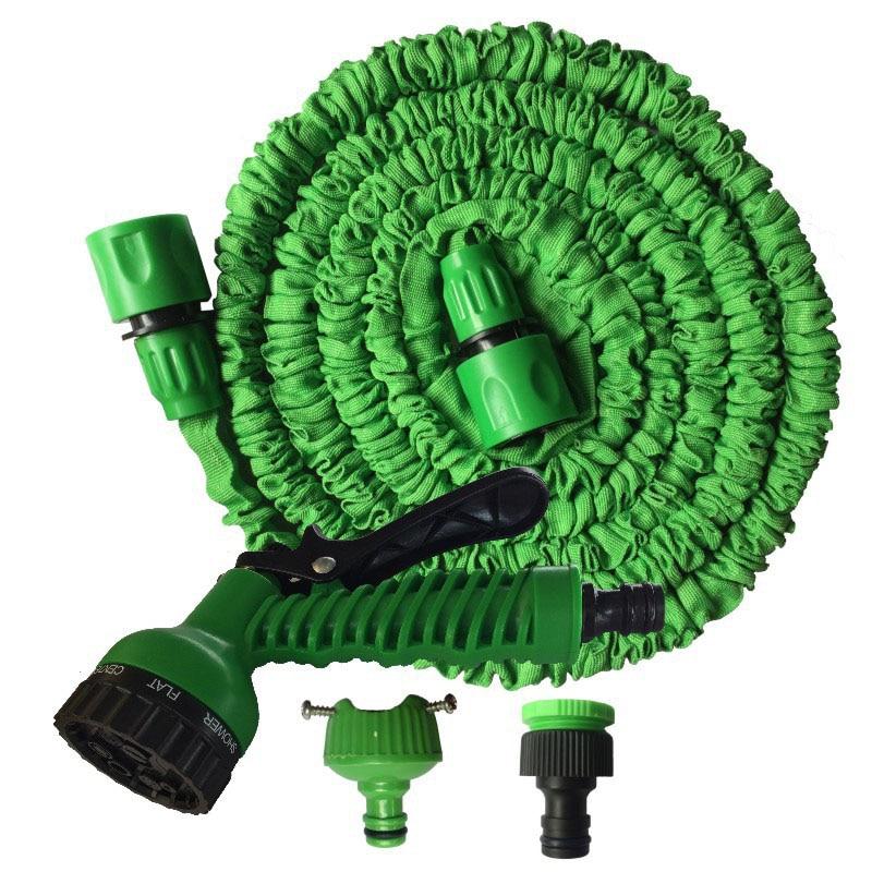 25-200FT Espandibile Magia Tubo Tubo di Plastica Flessibile Garden Hose Acqua Per Auto Tubi Per Irrigazione Con Pistola A Spruzzo