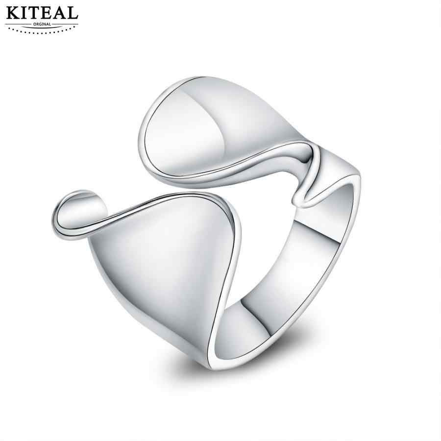 Kiteal wholesale silver fingers Thumb ring resizable opening unisex jewelry Top quality unique stamp 925