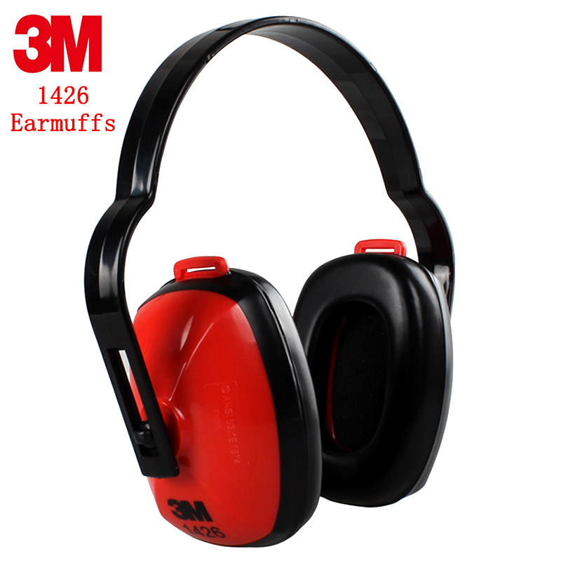 3M 1426 ear protector Earmuffs Genuine security 3M Earmuffs shooting Quiet study Industrial noise Soundproof ear cups 3m 1426 earmuffs noise soundproof ear protectors reduction noise economic type comfortable ear muff for travel sleep study work
