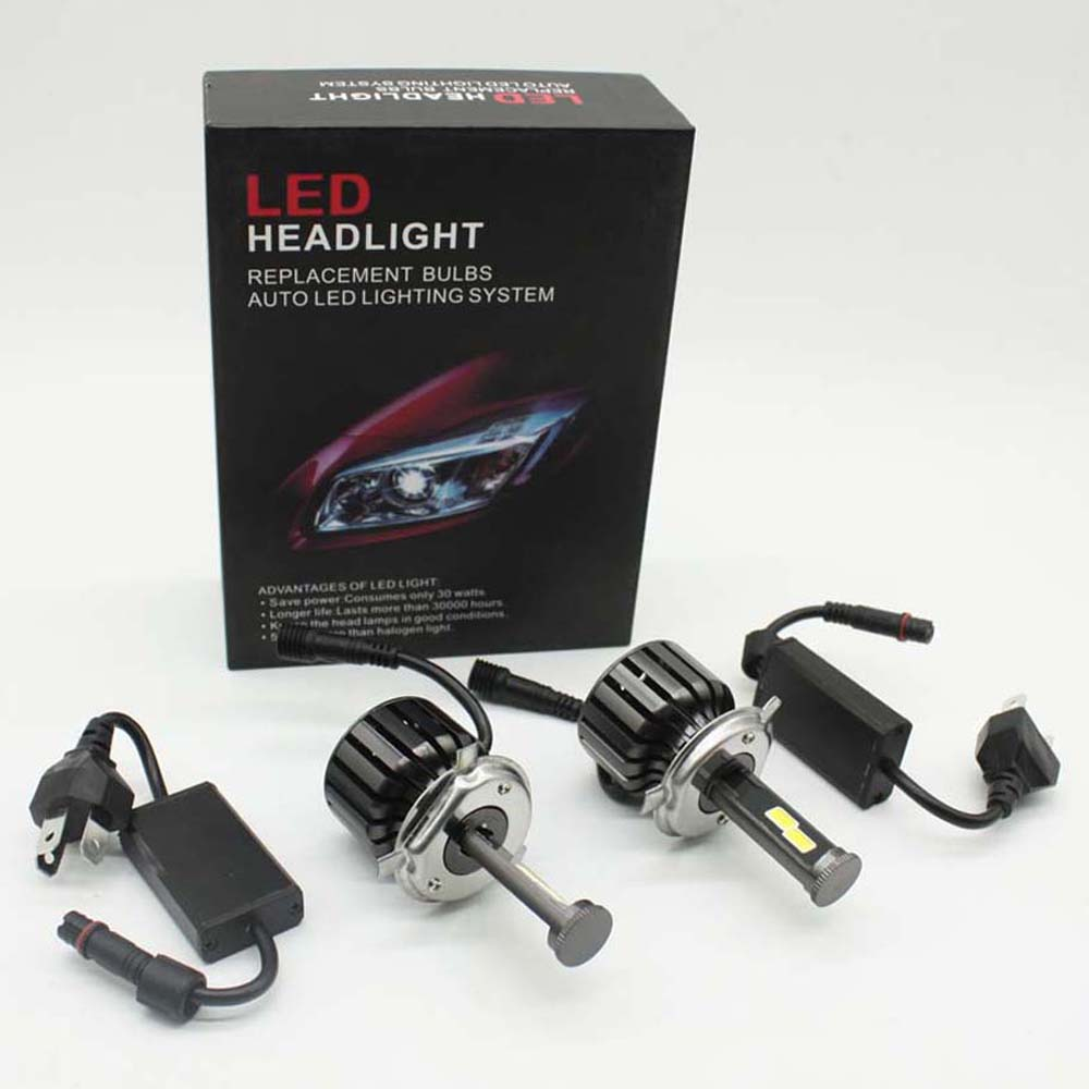 XIANGSHANG H4 Car Led Headlight High Power Auto H4-3 Hi/lo HB2 9003 High Low 40W White 6000K Bulb Repalcement Bi Headlamp