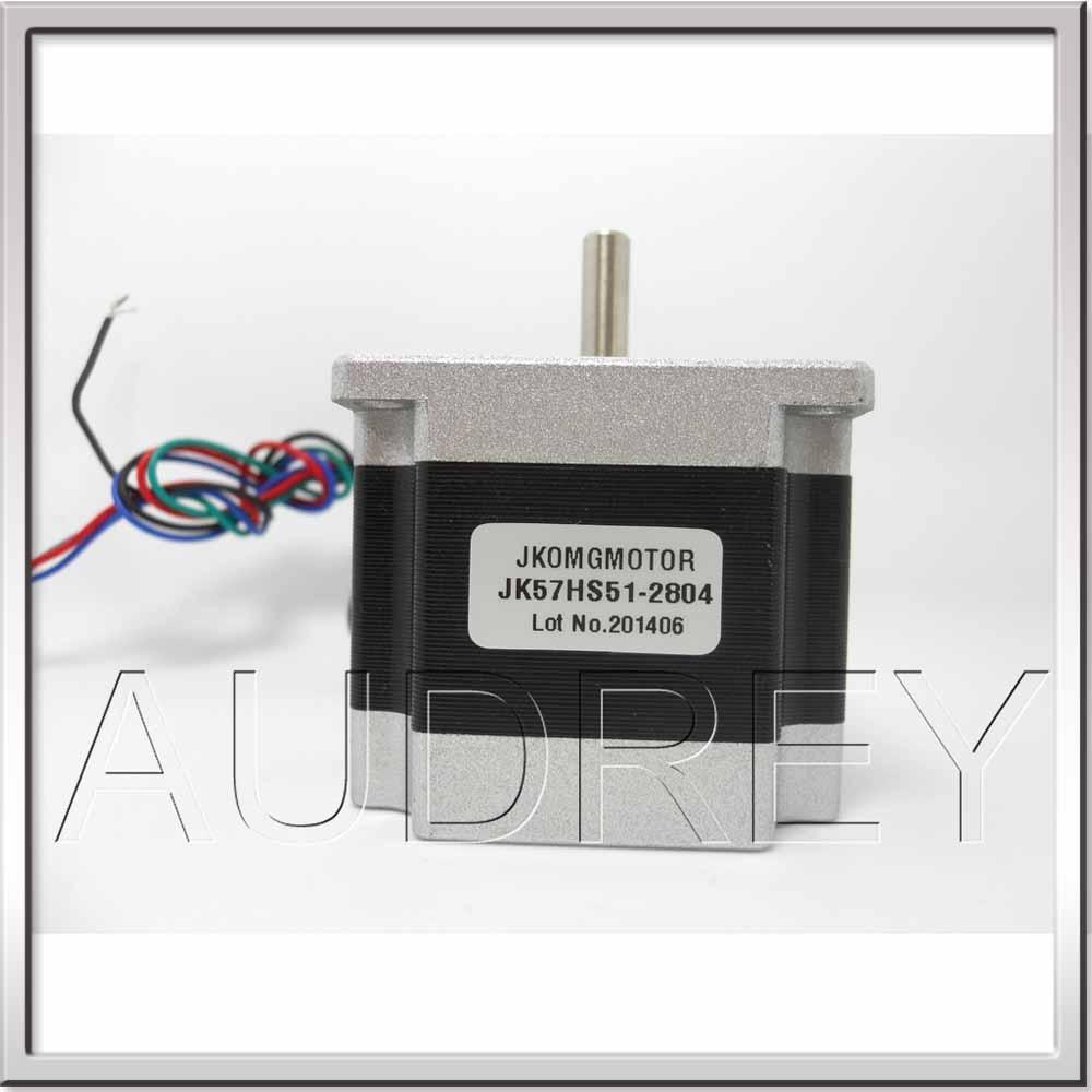 все цены на CE ROHS NEMA23 1.8deg. 57mm 2phase big Square hybrid stepper motor JK57HS51-2804 / 24v 1.1N.M 2.3V 2.8A 4-wire 51mm long онлайн