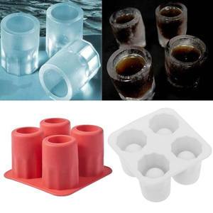 Ice-Cube-Mold Ice-Drink-Tool-Accessories Shot Glass Beer Party Silicone Bar Summer 4-Colors