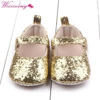 2d5c383ef2129 Custom Review Baby Girls Cotton First Walker Toddler Sequin Infant Soft  Sole Shoes Soft bottom Bebe Girls Shoes