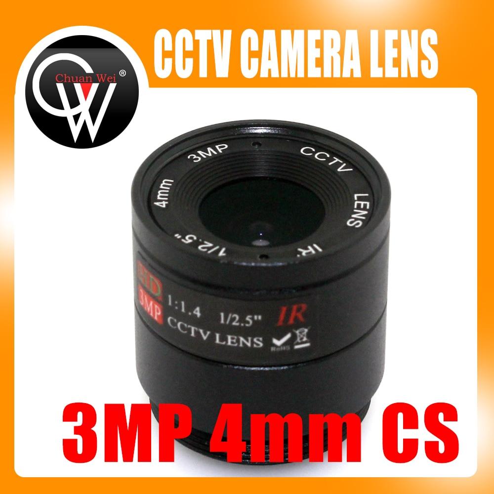 2 Stück 3MP 4mm Objektiv CS Mount HD CCTV Kameraobjektiv für Tag / Nacht CCD Sicherheit CCTV IP Kamera