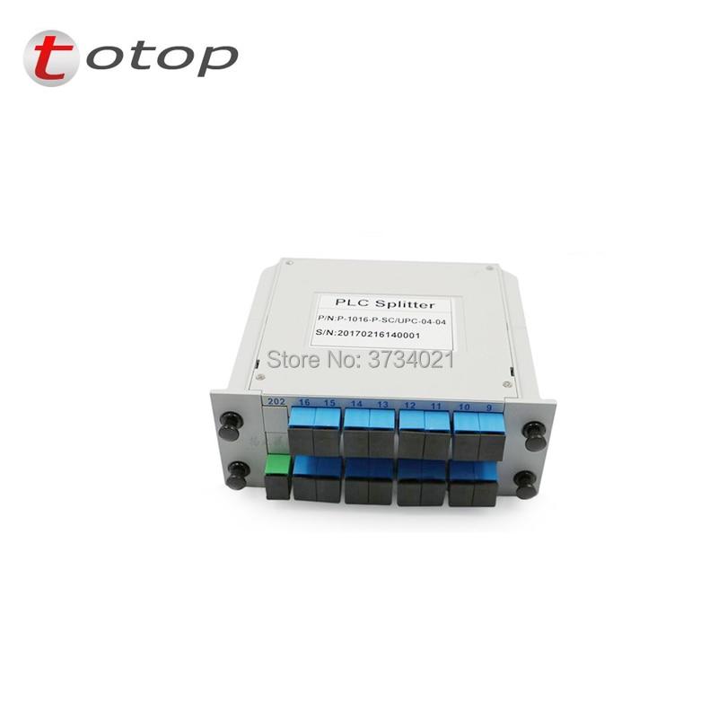 SC UPC PLC 1X16 splitter Fiber Optical Box FTTH PLC Splitter box with 1X16 Planar waveguide type Optical splitter Free shipping