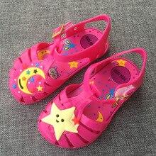 2017 summer new jelly cartoon breathable children font b shoes b font stars moon moon girl