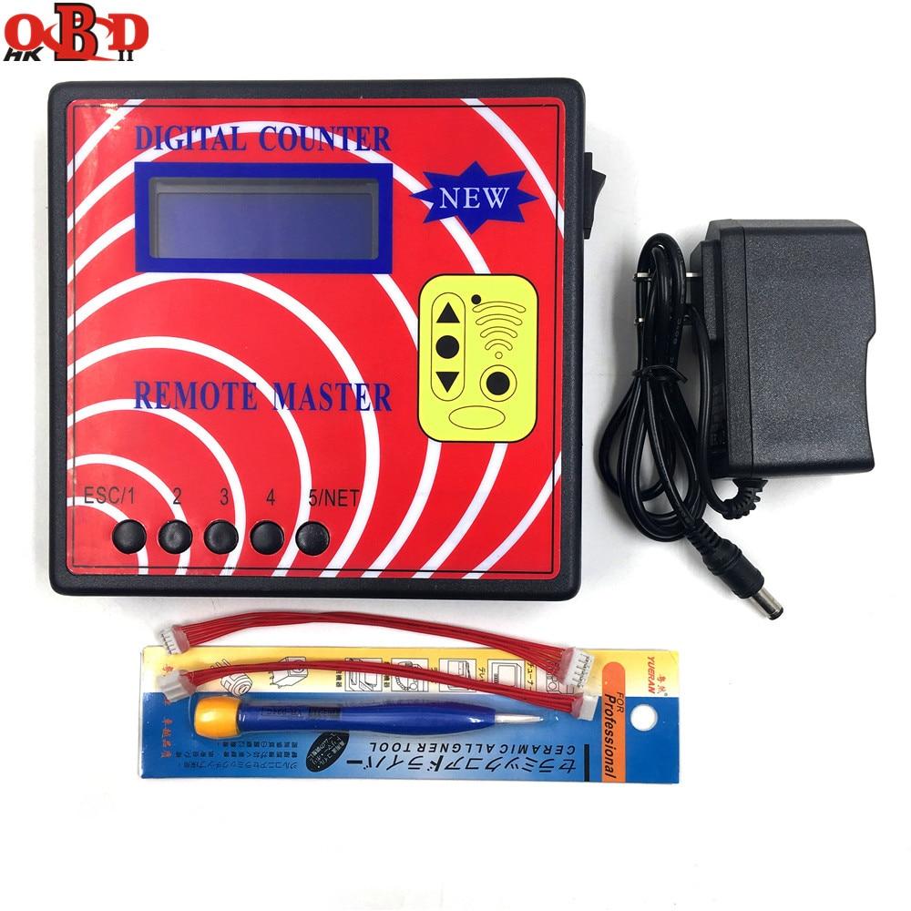 HKOBDII Remote Copier DigitalI Counter 10 (Remote Master)Blue Screen,Fixed/Rolling Code Copy Machine,Auto Key Programmer Tool