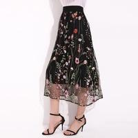 8be6cbb3e09a0c Women Gypsy Long Jersey Ladies Style Floral Printed High Waist Maxi Dress  Skirt
