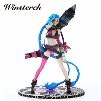 24cm LOL Jinx Lolita PVC Action Figure High Quality Kids Toy Online Game Collection Doll Gifts Game Heros Figurine MZ001