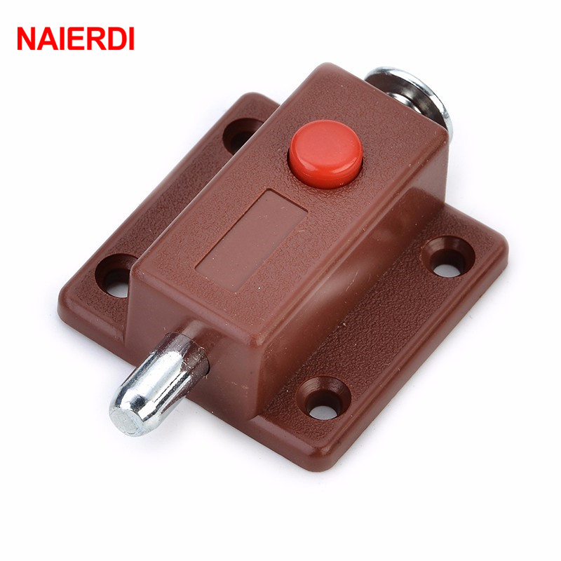 NAIERDI-7019 Automatic Furniture Bolt Door Window Cabinet Box Latch 53*35mm Drawer Cupboard Spring Lock Home Hardware
