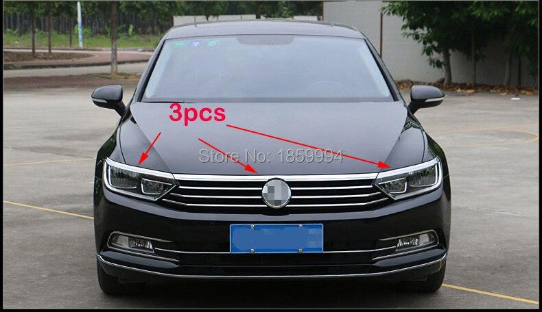 Für 2017 2018 2019 VW Passat B8 limousine/Alltrack/Variante FRONT KAPUZE HAUBE GRILL LIP MOLDING ABDECKUNG TRIM BAR GARNIEREN MESH