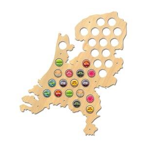 Mapa de tapa de cerveza de los Países Bajos, signo patriótico de madera para pared, mapa de Holanda, tapa de botella de vino, soporte de exhibición, hombre holandés, cueva, cerveza, regalo para amantes