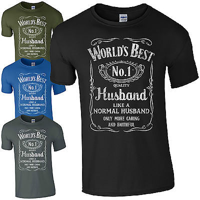 Worlds Best Husband T Shirt Funny Fathers Day Dad Present