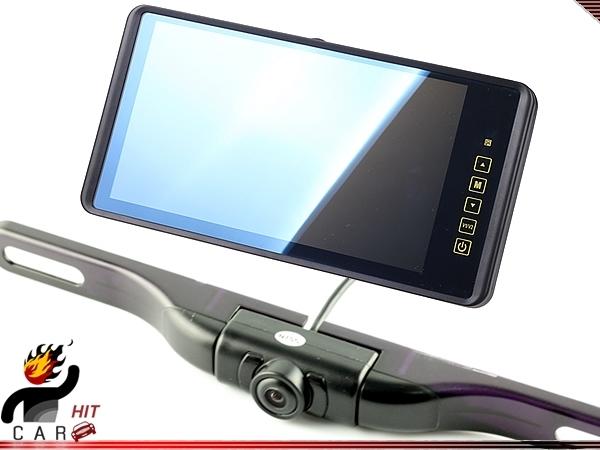 Espejo retrovisor de coche LCD 9 pulgadas Monitor wth placa Wireless monte la cámara de visión trasera