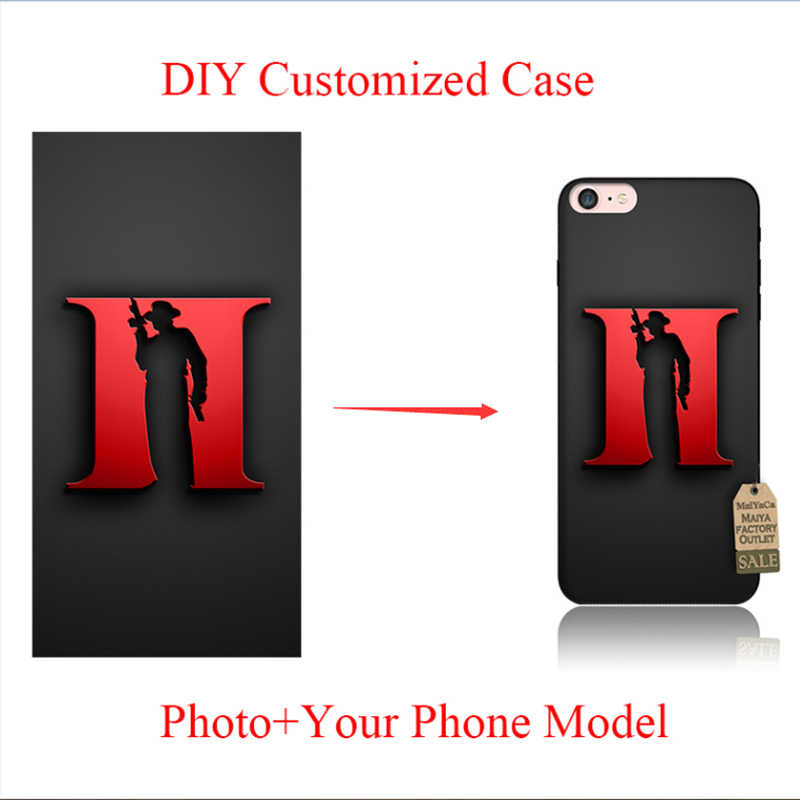 MaiYaCa DIY พิมพ์ภาพนุ่มสีดำ TPU โทรศัพท์สำหรับ iPhone 6 S X 8 8 PLUS 6 7 Plus SE 5 5 S XS MAX XR