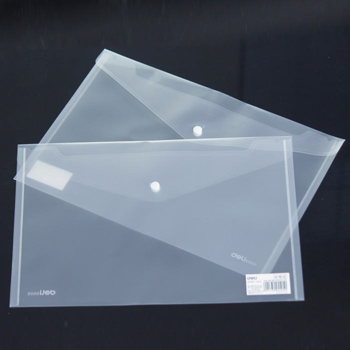10 Pcs Transparent Plastic Closure Folder Documents Bag A4 File Cover Business And School Filing Products Wholesale  5505