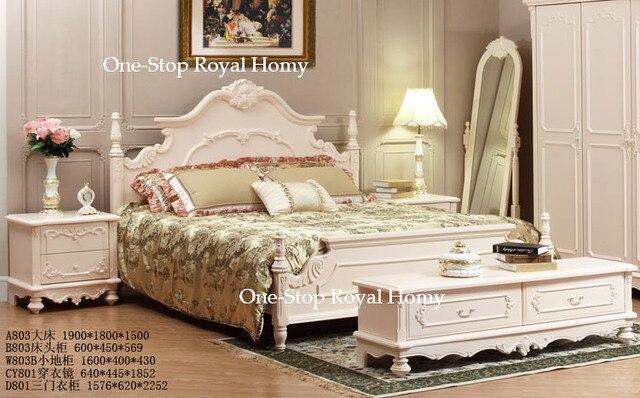 Slaapkamer Massief Hout : A hoogwaardige franse stijl slaapkamermeubilair massief hout