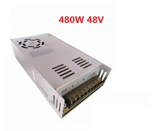 48V 10A 480W Switching power supply Driver For LED Light Strip Display AC100-240V Factory Supplier ac 85v 265v to 20 38v 600ma power supply driver adapter for led light lamp