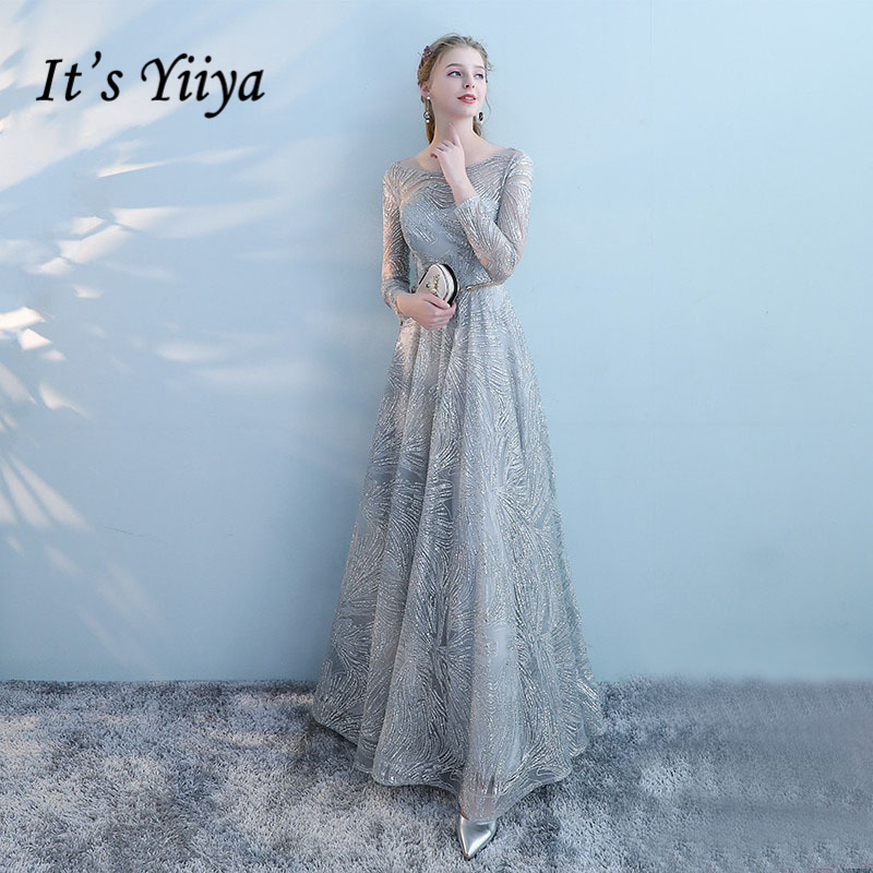 Formal Evening Gowns By Designers: It's YiiYa 2018 Sales Full Sleeve Prom Dresses Simple Lace
