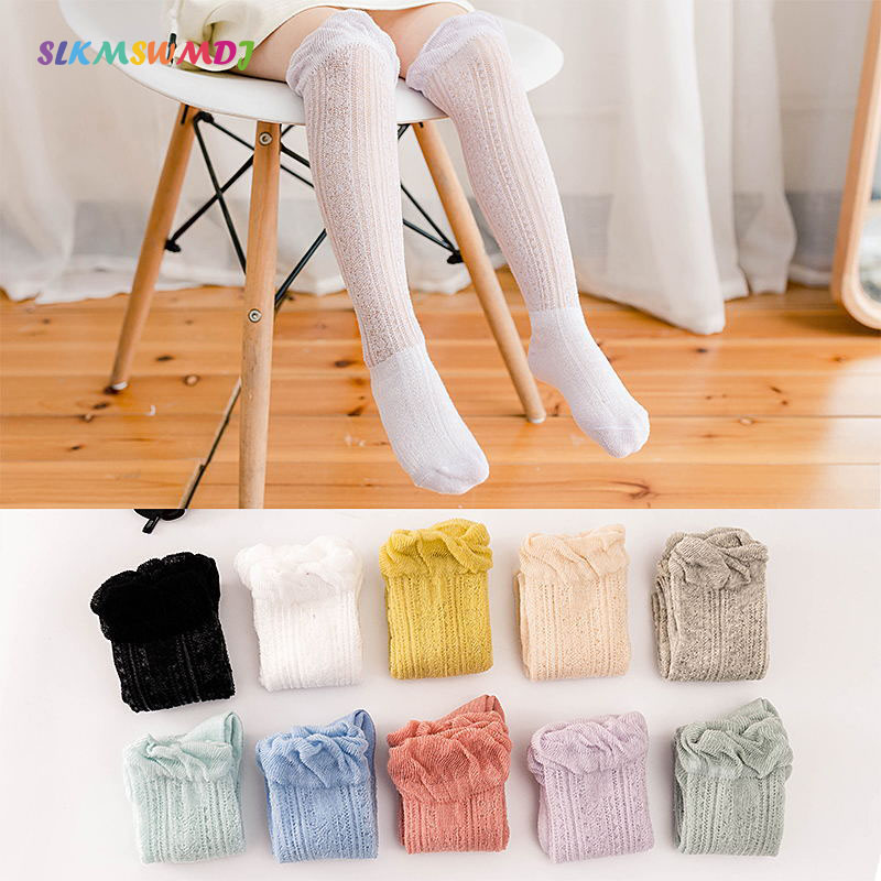 5 Pairs Toddler Kids Boys Girls Summer Thin silk stockings Socks Candy Color New