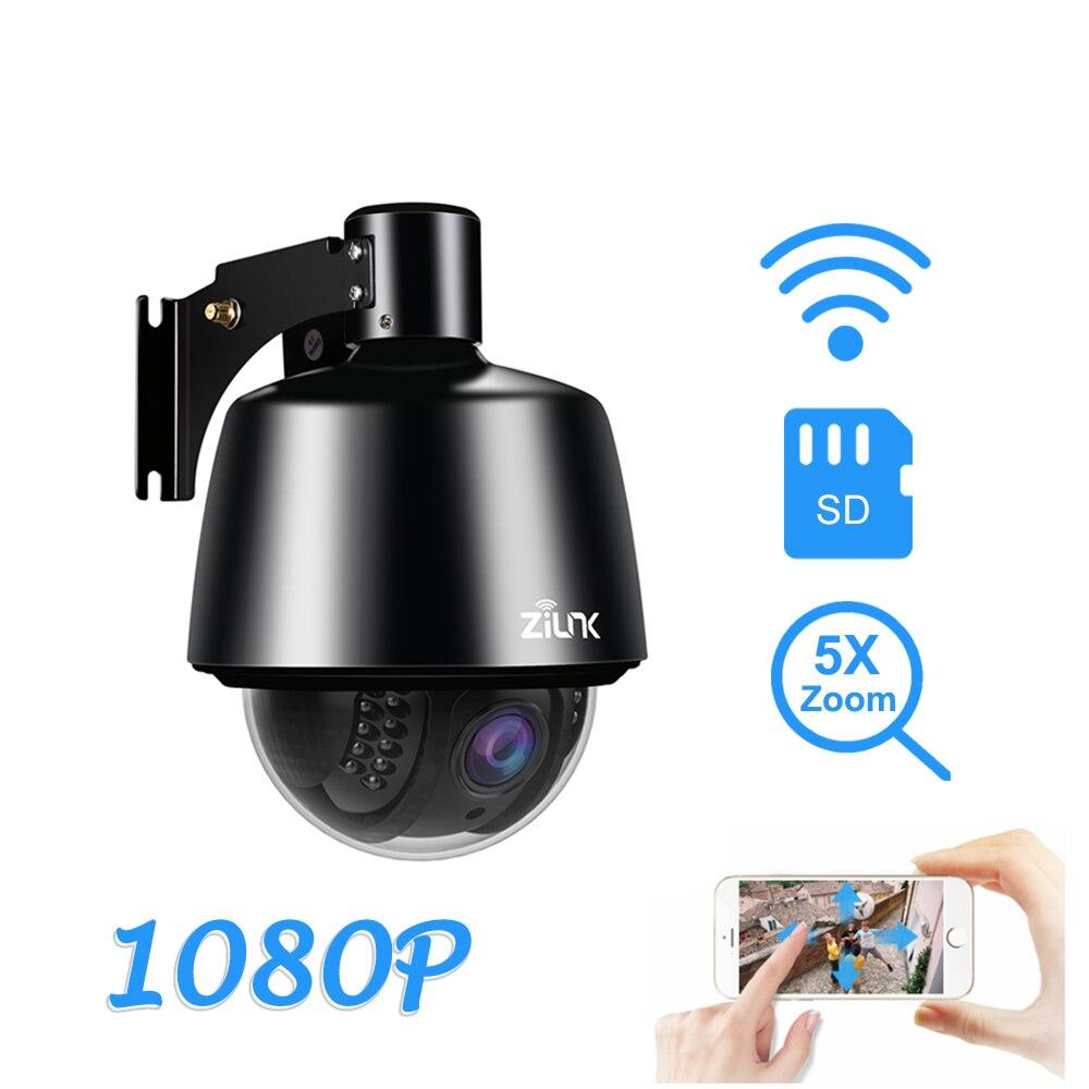 ZILNK 1080P Wireless PTZ Speed Dome IP Camera 2 7 13 5mm Auto Focus 5X Zoom