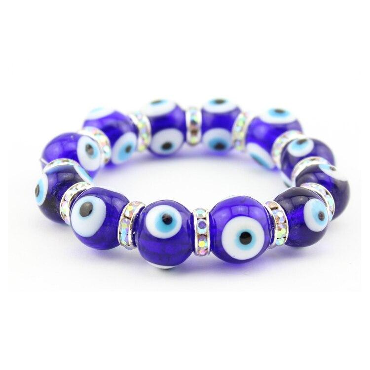 Turkish Gl Blue Evil Eye Beads Bracelet Dark Color Lucky Handmade 10pcs Bag In Strand Bracelets From Jewelry Accessories On Aliexpress