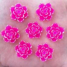 Новый 20 шт. 20 мм AB Смола 3D каменный цветок Flatback Свадьба Diy Дизайн кнопку ремесло K339 * 2
