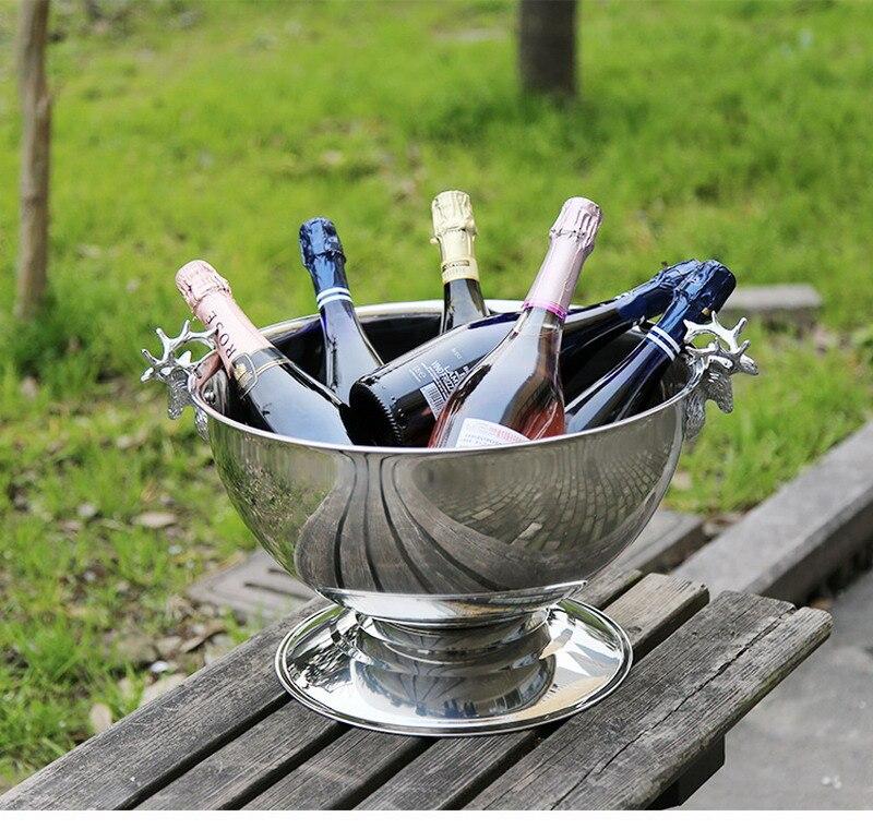 Grand seau à champagne réfrigéré maison tête de cerf européen Champagne seau à glace bar