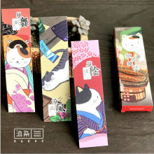 30pcs/box Beautiful cat Gift Bookmarks Marker Stationery Realistic Kawaii Cartoon Office School Supply